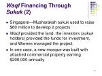 waqf financing through sukuk 2
