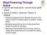 waqf financing through sukuk