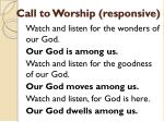 call to worship responsive