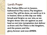 lord s prayer