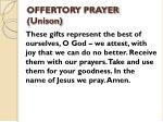 offertory prayer unison