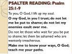 psalter reading psalm 25 1 9