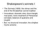 shakespeare s sonnets i