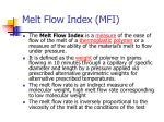 melt flow index mfi