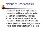 melting of thermoplastic