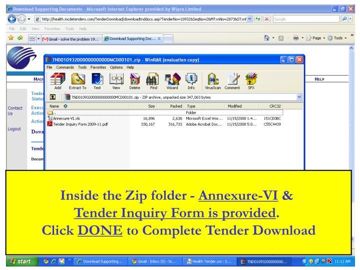 Inside the Zip folder -