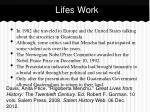 lifes work