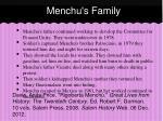 menchu s family