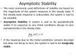 asymptotic stability