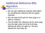 additional reference bits algorithm