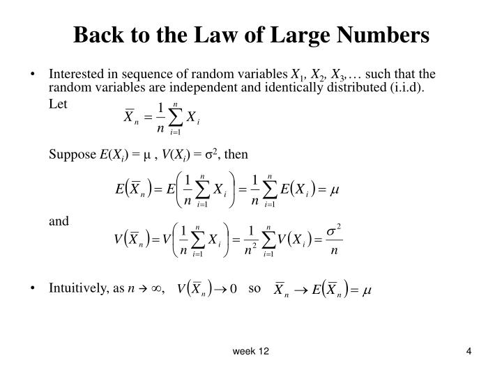 Back to the Law of Large Numbers
