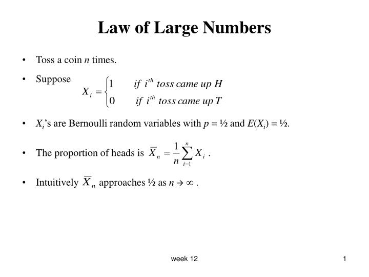 law of large numbers n.