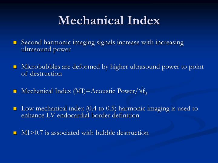 Mechanical Index