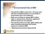 environmental fate of mdi