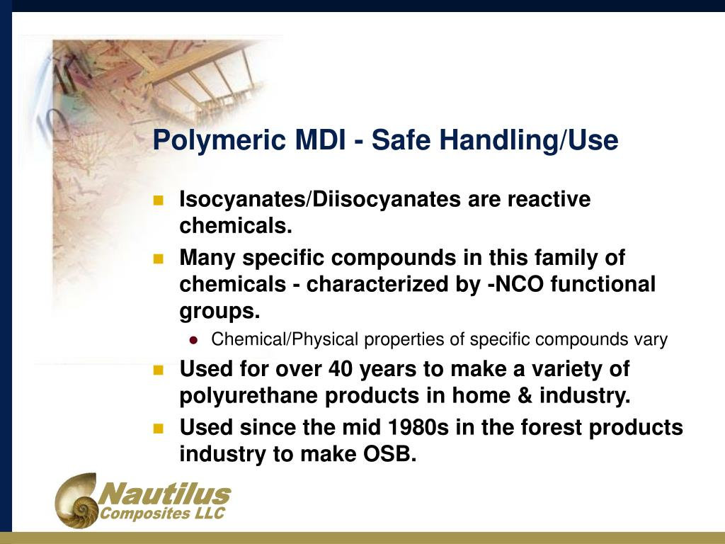 PPT - Guidelines for Safe Handling and Use of Polymeric MDI