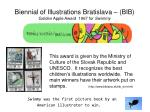 biennial of illustrations bratislava bib golden apple award 1967 for swimmy