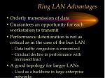 ring lan advantages