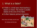 1 what is a fable