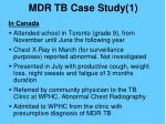 mdr tb case study 11