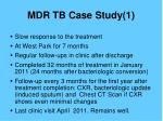 mdr tb case study 13