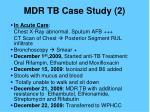 mdr tb case study 21
