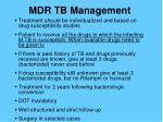 mdr tb management