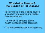 worldwide trends the burden of tb disease