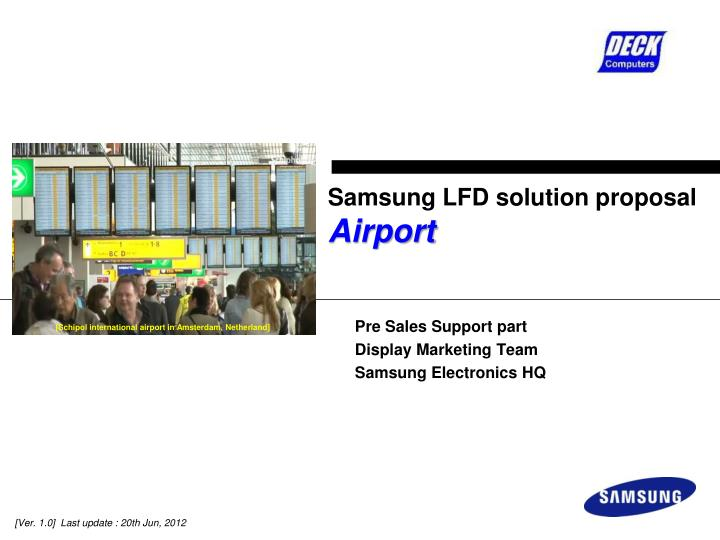 samsung lfd solution proposal airport n.