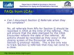 faqs from lcas1