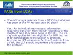 faqs from lcas2