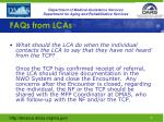 faqs from lcas5