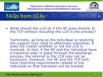 faqs from lcas6