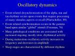 oscillatory dynamics