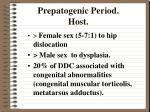prepatogenic period host