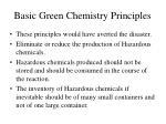 basic green chemistry principles