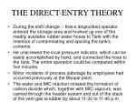the direct entry theory