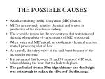 the possible causes