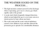 the weather egged on the process