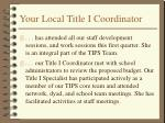 your local title i coordinator