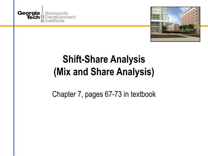 shift share analysis mix and share analysis n.