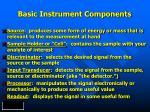 basic instrument components