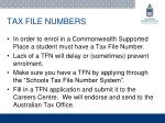 tax file numbers
