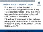 types of courses payment options