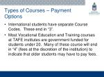 types of courses payment options1
