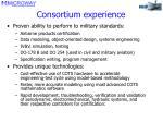 consortium experience