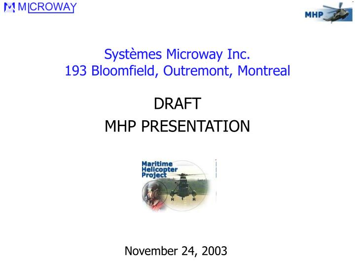 syst mes microway inc 193 bloomfield outremont montreal n.