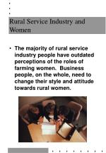 rural service industry and women