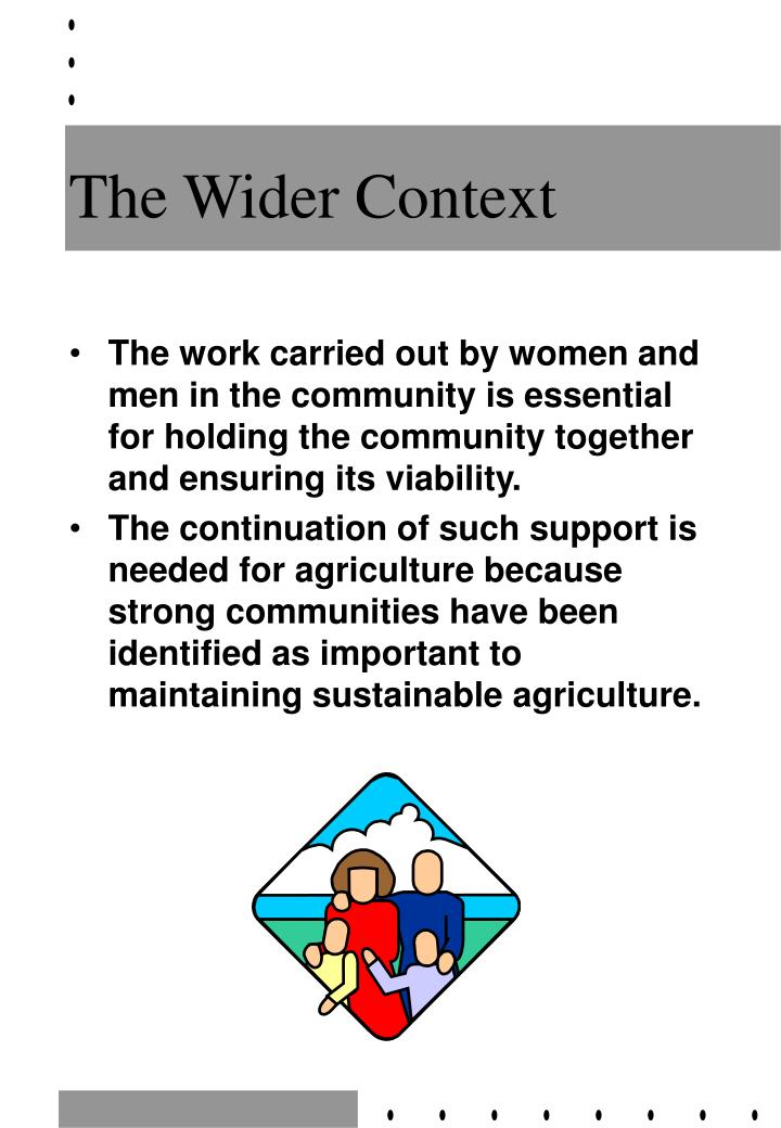 the wider context n.