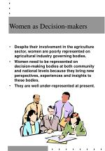 women as decision makers