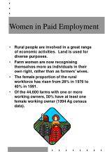 women in paid employment